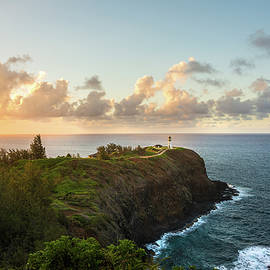 Kilauea Light House Seascape at Sunset - Kauai Hawaii by Brian Harig