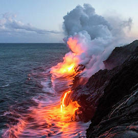 Brian Harig - Kilauea Volcano Lava Flow Sea Entry 3- The Big Island Hawaii