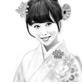 Yoshiyuki Uchida - Kimono Girl No.13