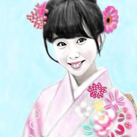 Yoshiyuki Uchida - Kimono Girl No.14