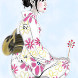 Yoshiyuki Uchida - Kimono girl No.16