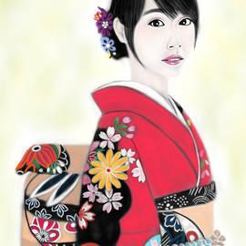 Yoshiyuki Uchida - Kimono Girl No.17