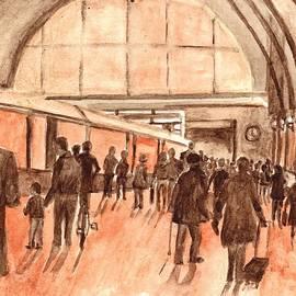 Carol Wisniewski - Kings Cross Railway Station London England