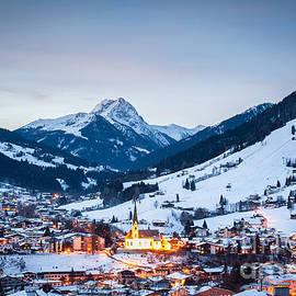 Kirchberg Austria In The Evening by John Wadleigh