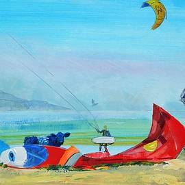 Kite Surfing At Exmouth by Mike Jory