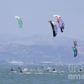 Kite Surfing California II by Chuck Kuhn