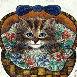 Natalie Holland - Kitten In Basket