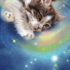 Kitten playful by Marjolein Kruijt