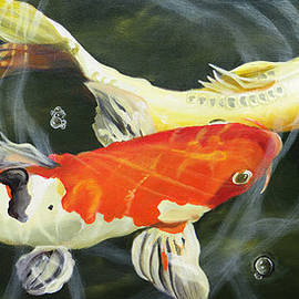 Koi 4 by Phyllis Beiser