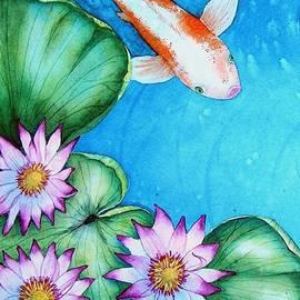Mishel Vanderten - Koi and Lilies cards and prints