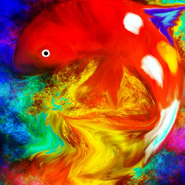 Abstract Angel Artist Stephen K - Koi Fish Fantasy