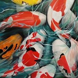 Davit Liyanto - Koi Fish Oil Painting