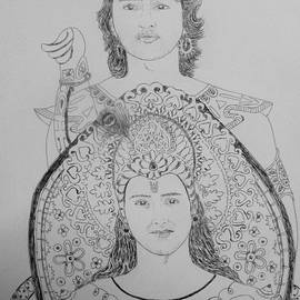 Aurokanya Chattopadhya - Krishna And Arjuna