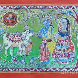 Raksha Soni - Krishna Radha with Cows