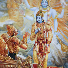 Krishna Reveals His Universal Form To Arjuna by Dominique Amendola