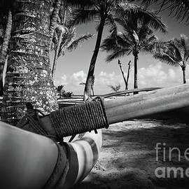 Kuau Palm Trees Hawaiian Outrigger Canoe Paia Maui Hawaii by Sharon Mau