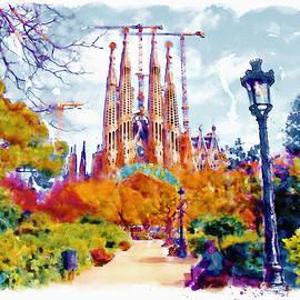 La Sagrada Familia - Park View by Marian Voicu