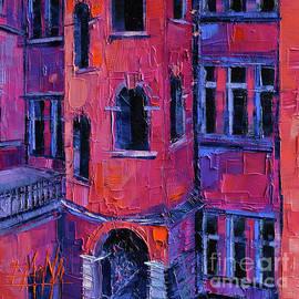 Mona Edulesco - LA TOUR ROSE Modern Impressionist Palette Knife Oil Painting