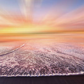 Lacy Waves at Dawn Dreamscape by Debra and Dave Vanderlaan