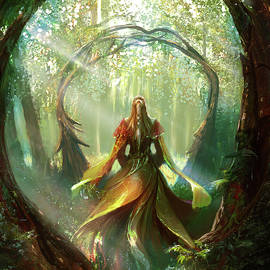 Edli Akolli - Lady in the forest