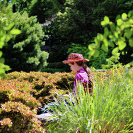 Lady In The Garden by Cynthia Guinn