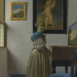 Jan Vermeer - Lady Standing at a Virginal