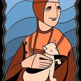 Lady With An Ermine By Piotr by Piotr Dulski