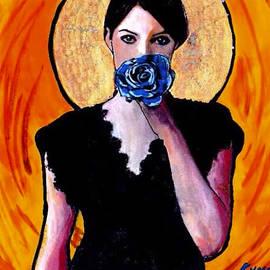 Paul Kole - Lady with Blue Rose
