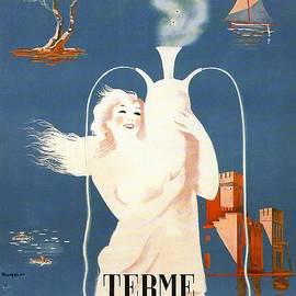 Lago Di Garda - Terme Sirmione, Italy - Retro travel Poster - Vintage Poster - Studio Grafiikka