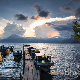 Lake Atitlan at sunset by Yuri San
