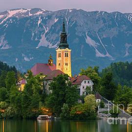 Lake Bled at twilight, Slovenia by Henk Meijer Photography