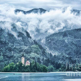 Lake Bled in Clouds by Norman Gabitzsch