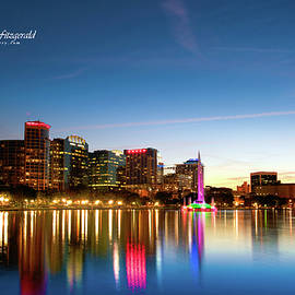 Lake Eola At Sunset by Mike Fitzgerald