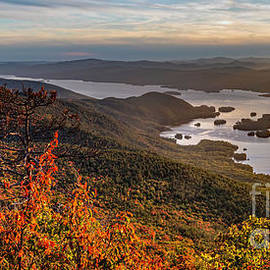 Colin D Young - Lake George Sunset Panorama