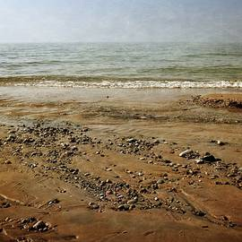 Lake Michigan And Pier Cove Creek  by Michelle Calkins