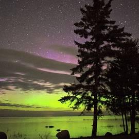 Lake Michigan Aurora by LuAnn Griffin