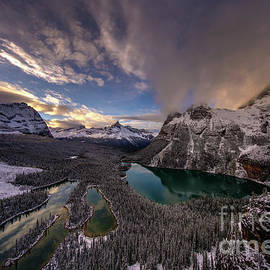 Mike Reid - Lake OHara Sunset Winterscape from Opabin Prospect