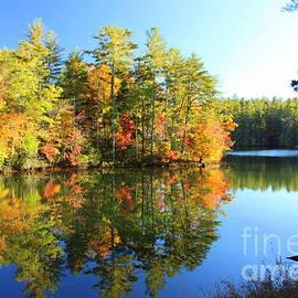 Charlene Cox - Lake Rabun Autumn Reflections