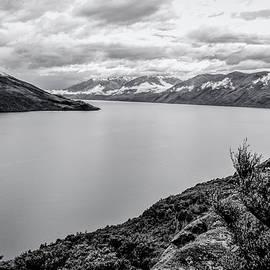 Lake Wanaka from Mou Waho New Zealand BW by Joan Carroll
