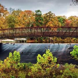 Brian Wallace - Lake Waterford Walk-Bridge In Fall