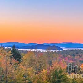 Claudia M Photography - Lake Winnipesaukee sunset view