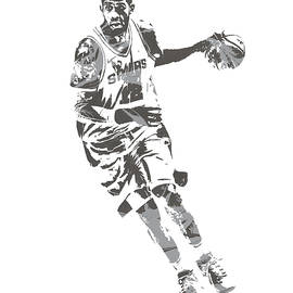 LaMarcus Aldridge SAN ANTONIO SPURS PIXEL ART 40 - Joe Hamilton