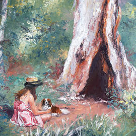 Landscape Painting - By the Hollow Tree by Jan Matson