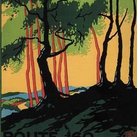 Landscape Painting of the Woods in Reigate, Surrey - England - Vintage Poster - Studio Grafiikka