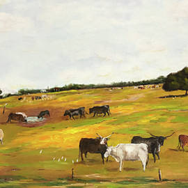 Landscape with Cattle by Daniel Xiao