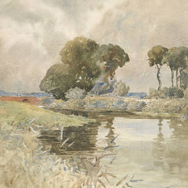 William Muller - Landscape with river, England