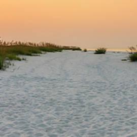 Langdon Beach Sunrise 5 Panorama - Pensacola Beach Florida by Brian Harig