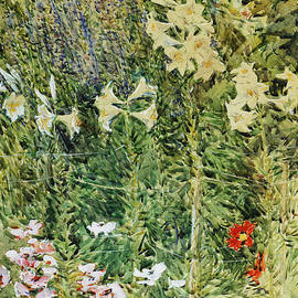 Larkspurs and Lillies, 1893 - Childe Hassam