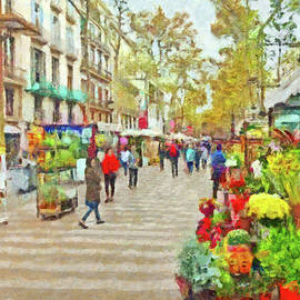 Las Ramblas In Barcelona by Digital Photographic Arts