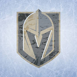 Las Vegas Golden Knights Vintage Hockey at Center Ice - Design Turnpike